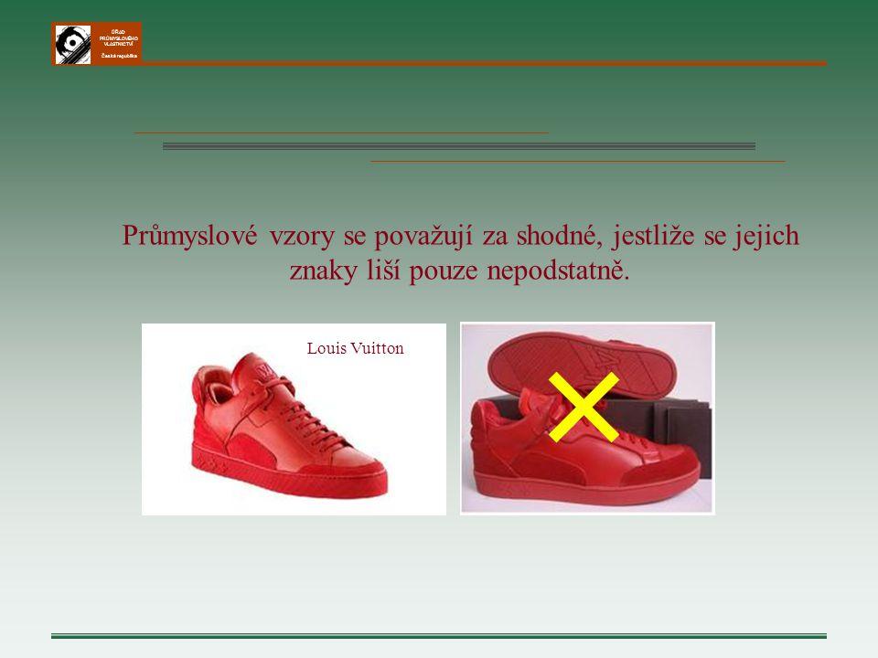 ÚŘAD PRŮMYSLOVÉHO VLASTNICTVÍ Česká republika Louis Vuitton Průmyslové vzory se považují za shodné, jestliže se jejich znaky liší pouze nepodstatně. ╳