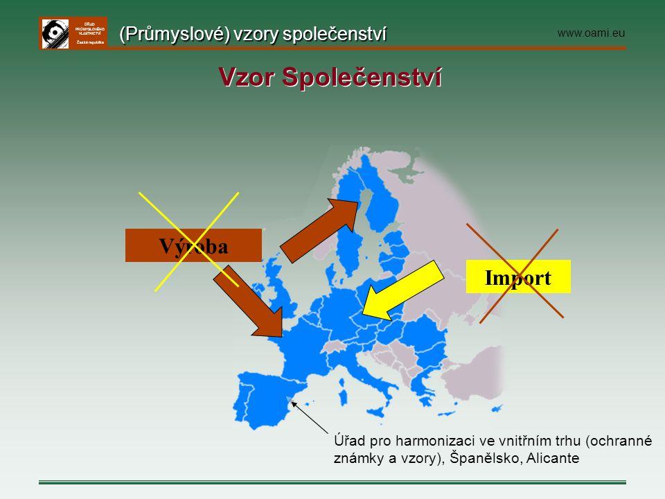 ÚŘAD PRŮMYSLOVÉHO VLASTNICTVÍ Česká republika Import Výroba Úřad pro harmonizaci ve vnitřním trhu (ochranné známky a vzory), Španělsko, Alicante (Prům