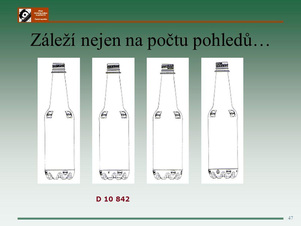 ÚŘAD PRŮMYSLOVÉHO VLASTNICTVÍ Česká republika Záleží nejen na počtu pohledů… 47 D 10 842