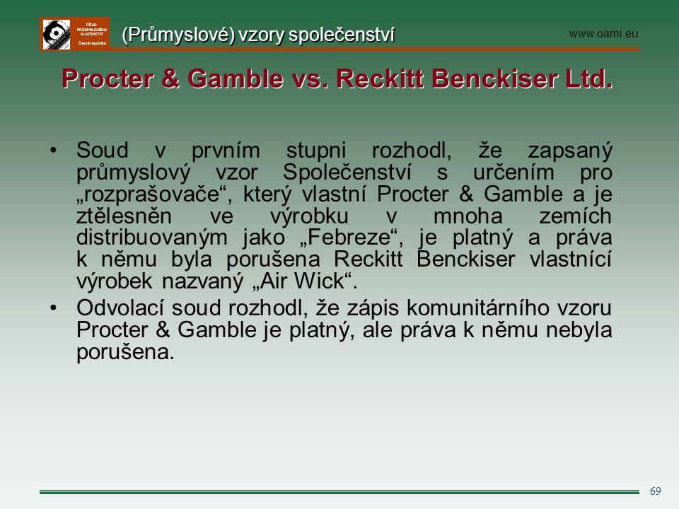 """ÚŘAD PRŮMYSLOVÉHO VLASTNICTVÍ Česká republika 69 Soud v prvním stupni rozhodl, že zapsaný průmyslový vzor Společenství s určením pro """"rozprašovače"""", k"""