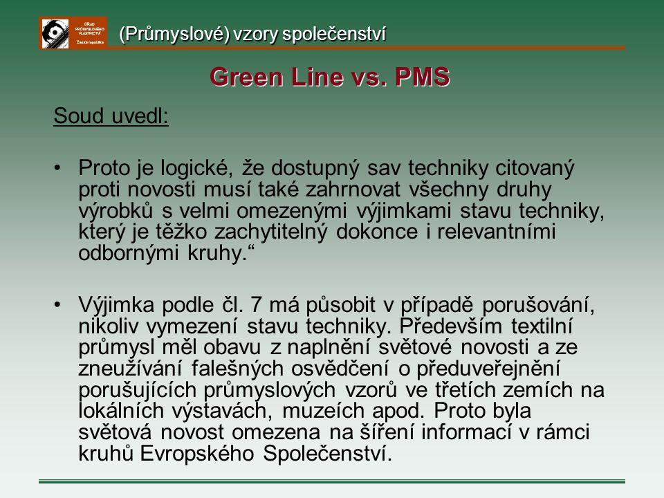 ÚŘAD PRŮMYSLOVÉHO VLASTNICTVÍ Česká republika Soud uvedl: Proto je logické, že dostupný sav techniky citovaný proti novosti musí také zahrnovat všechn