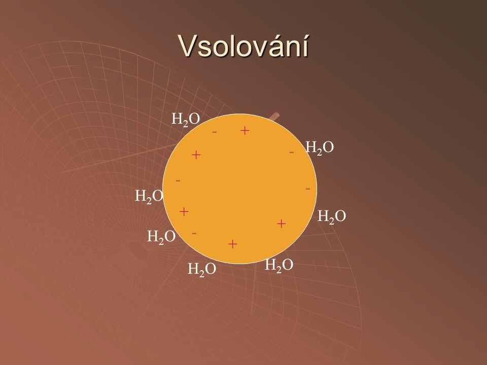 Vsolování - - - - - + + + + + H2OH2O H2OH2O H2OH2O H2OH2O H2OH2O H2OH2O H2OH2O