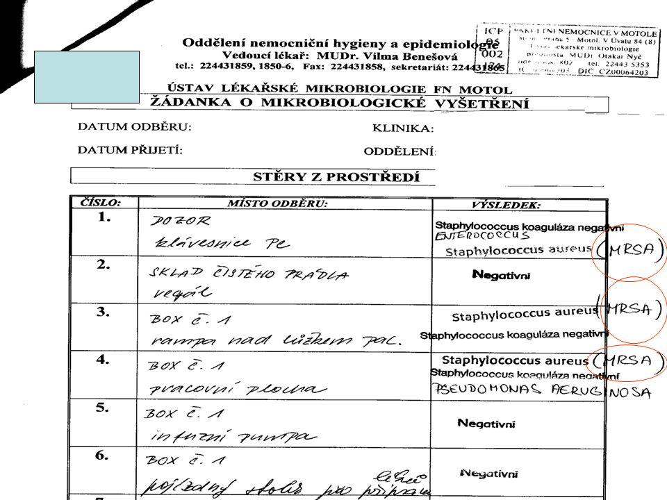 13 9.11.2011, FNM13 Nozokomiální nákazy v období leden – duben 2011