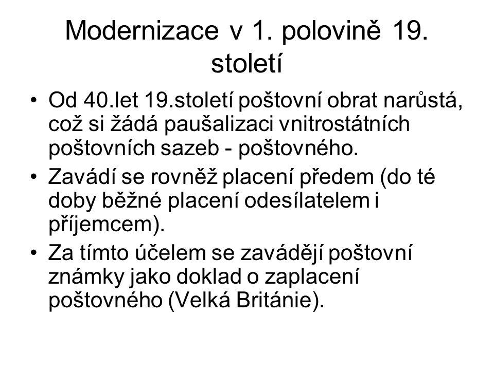 Modernizace v 1. polovině 19.