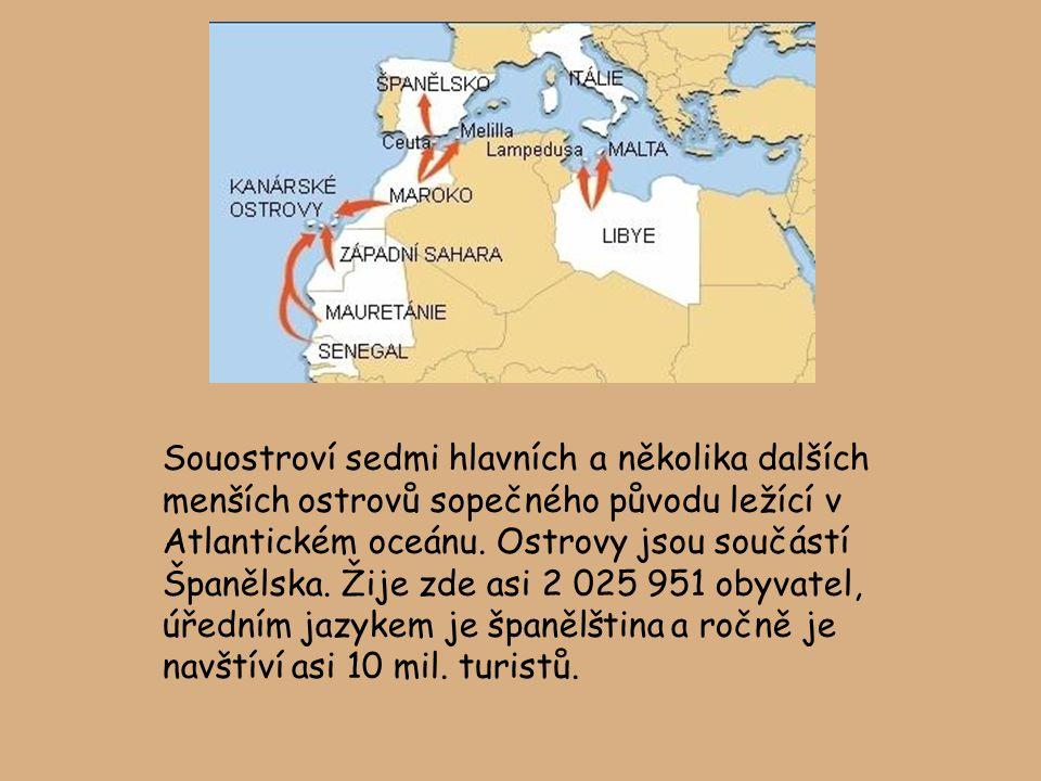 Souostroví sedmi hlavních a několika dalších menších ostrovů sopečného původu ležící v Atlantickém oceánu.