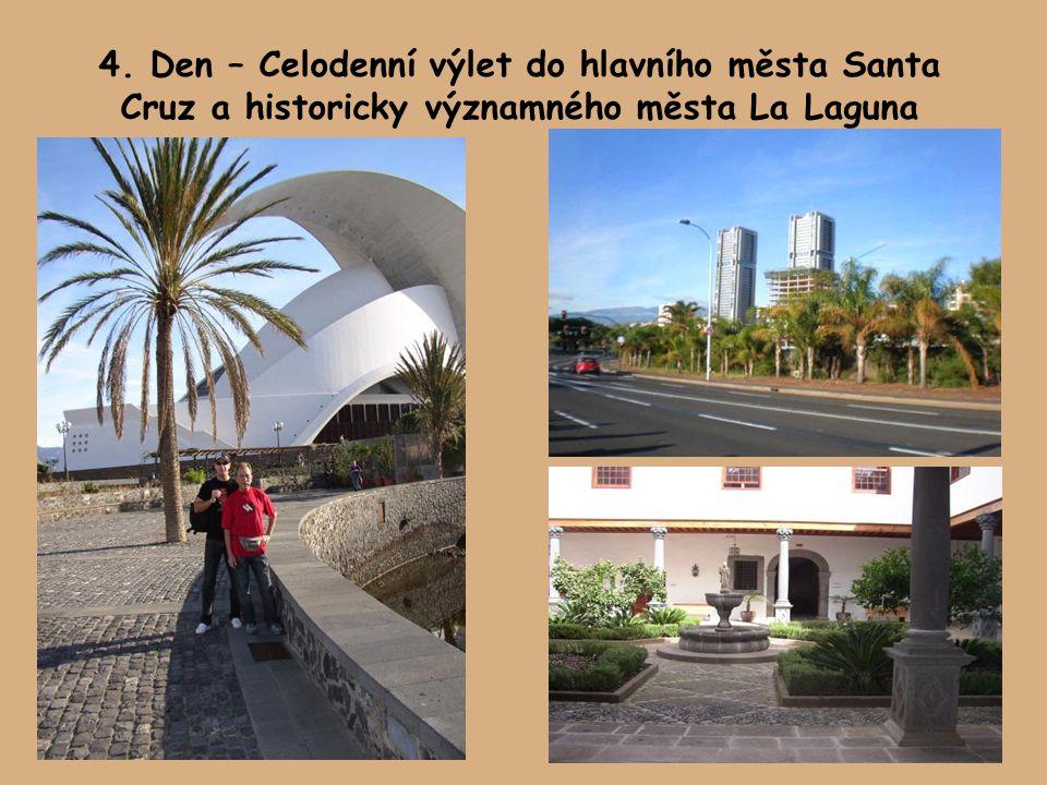 4. Den – Celodenní výlet do hlavního města Santa Cruz a historicky významného města La Laguna