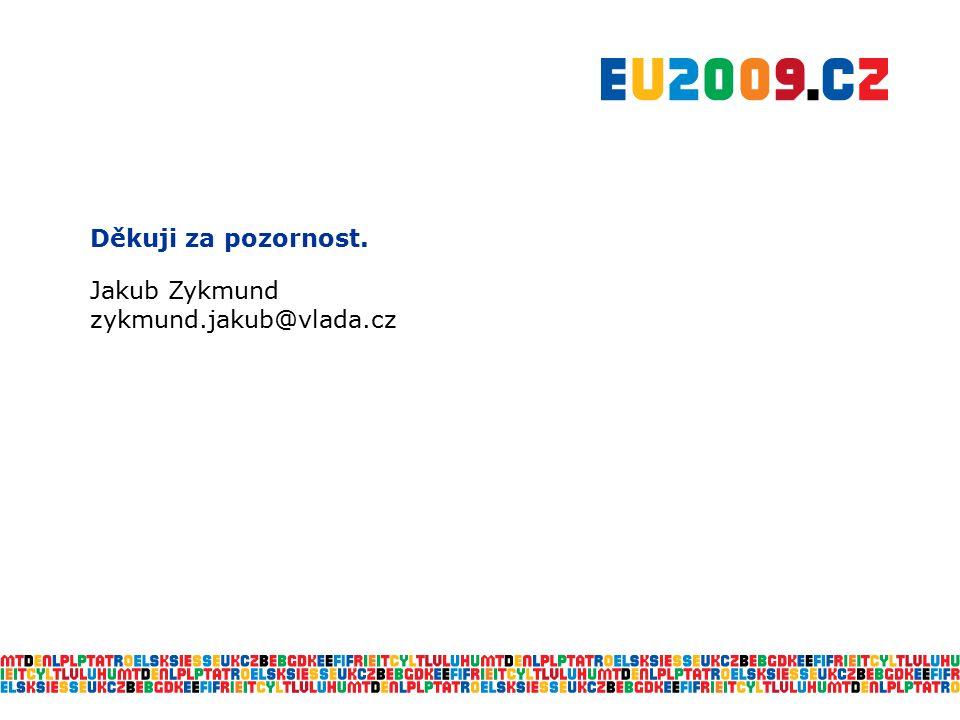 Děkuji za pozornost. Jakub Zykmund zykmund.jakub@vlada.cz