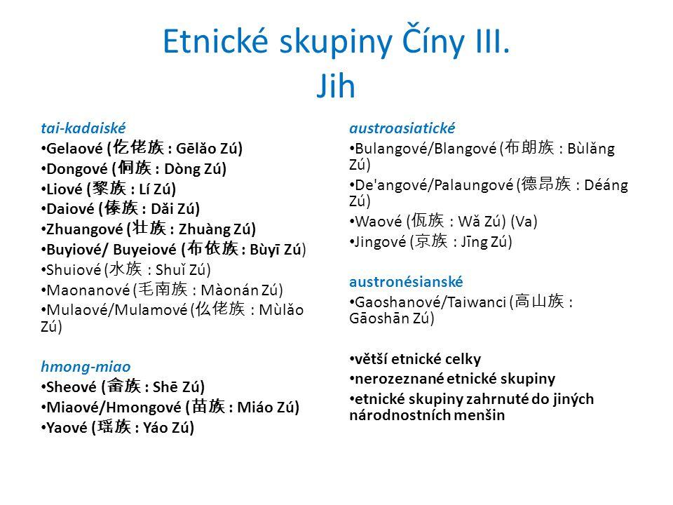 Etnické skupiny Číny III.