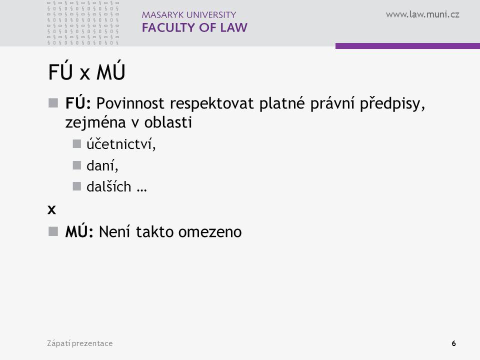 Zápatí prezentace7 Účetnictví a jeho zásady