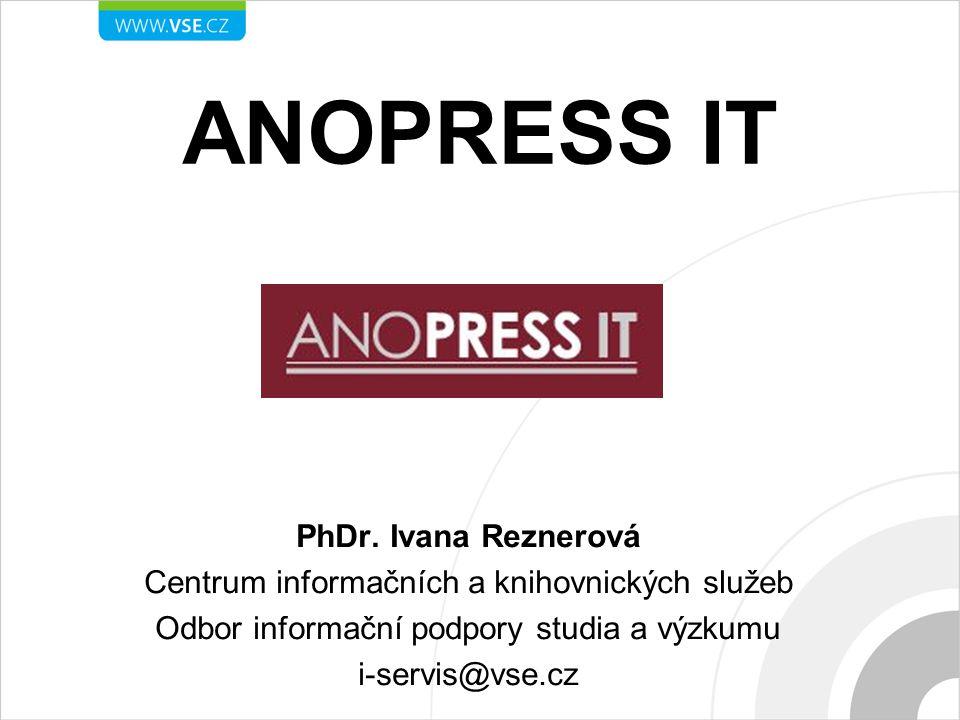 ANOPRESS IT PhDr.