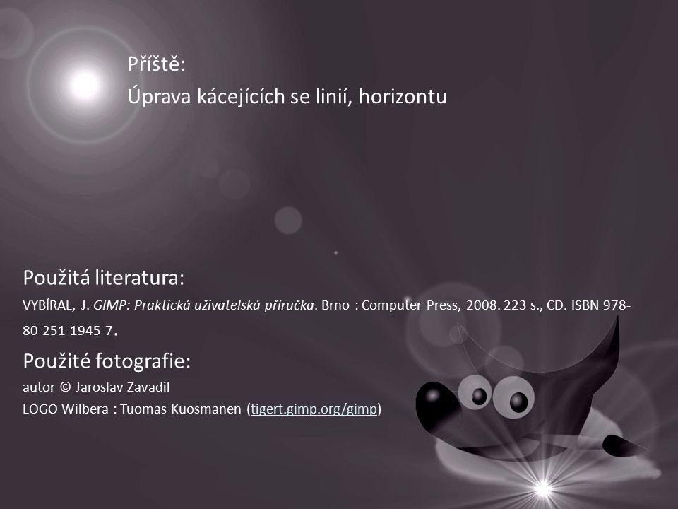 Příště: Úprava kácejících se linií, horizontu Použitá literatura: VYBÍRAL, J.
