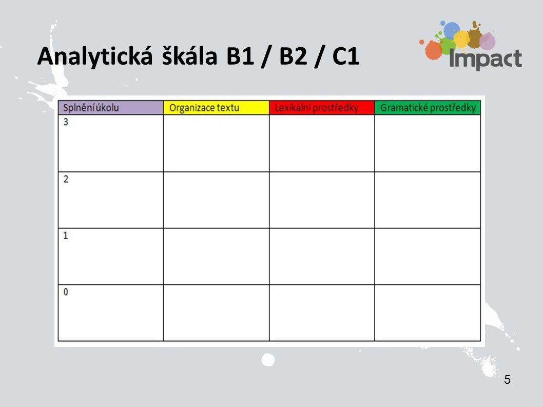 Analytická škála B1 / B2 / C1 5