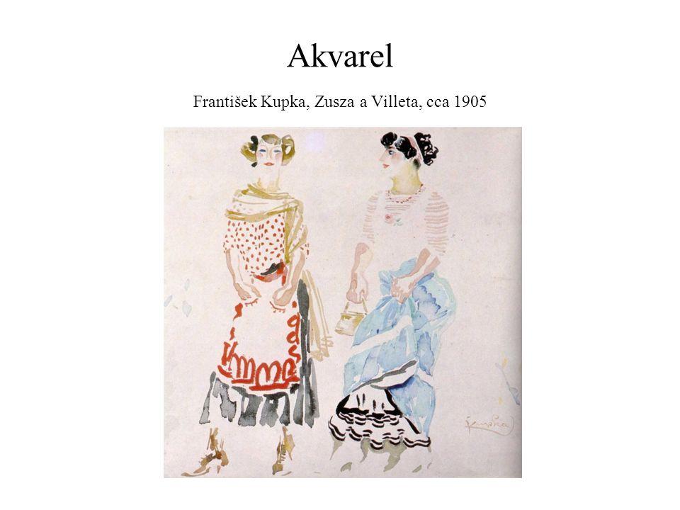 Akvarel František Kupka, Zusza a Villeta, cca 1905