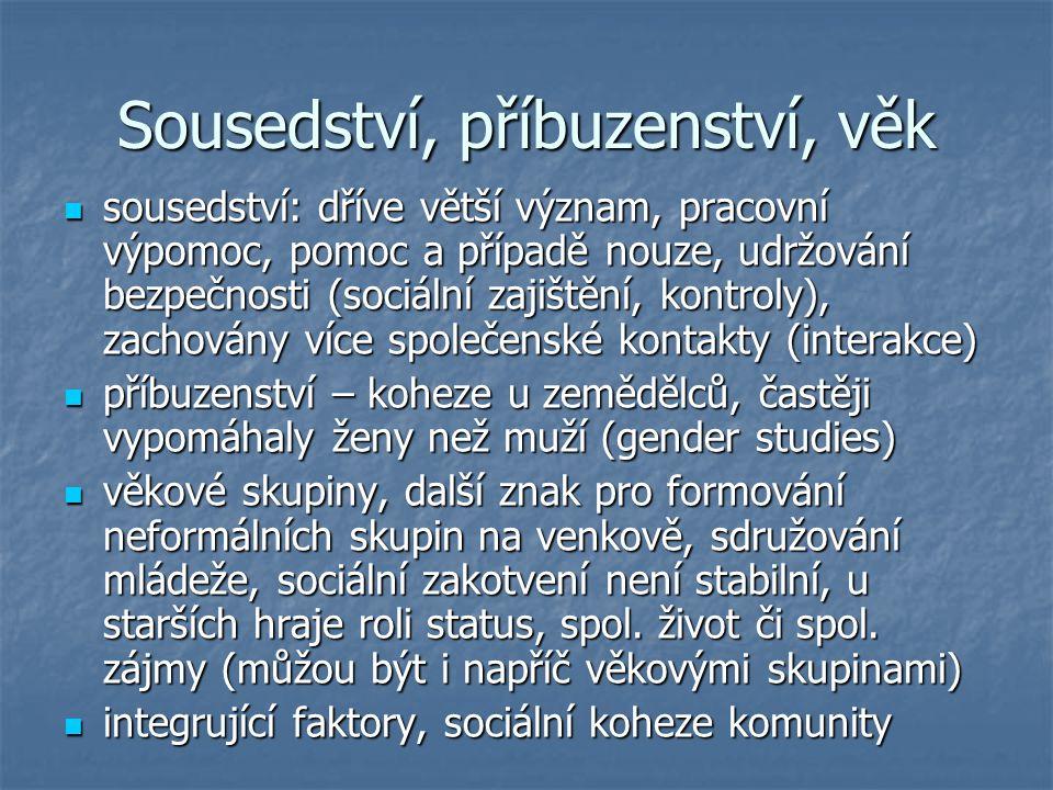 Kulturní a spol.instituce a org. institucionálně určené činnosti, spec.
