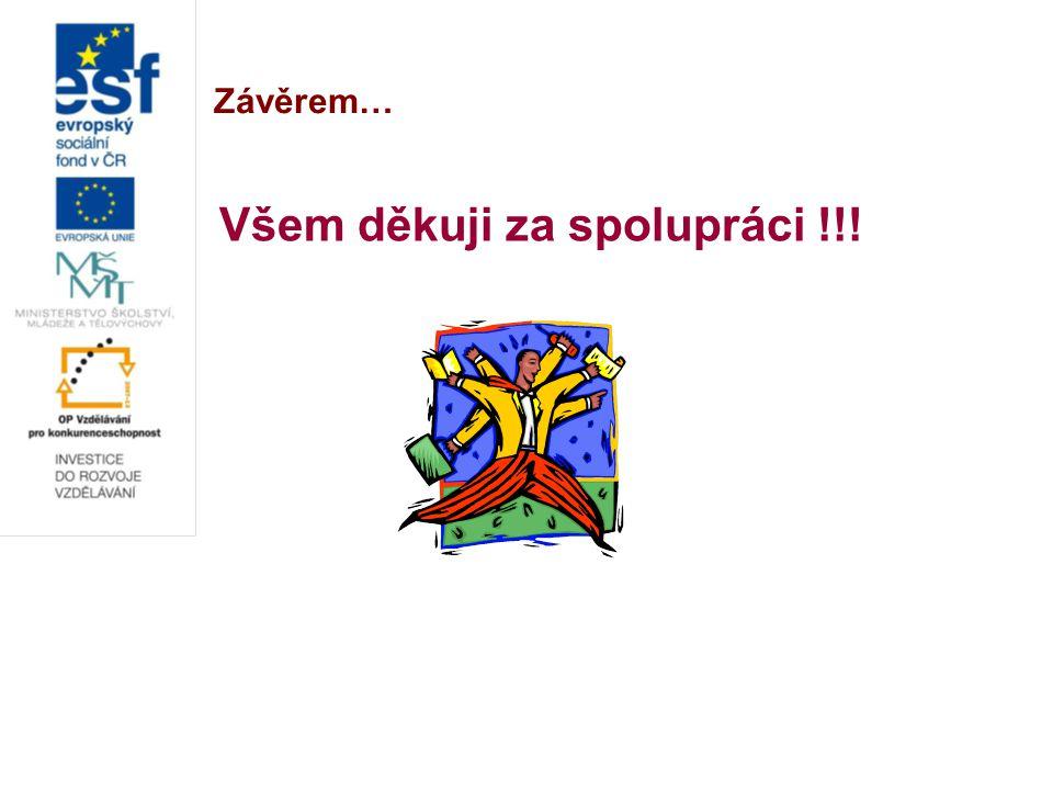 Závěrem… Všem děkuji za spolupráci !!!