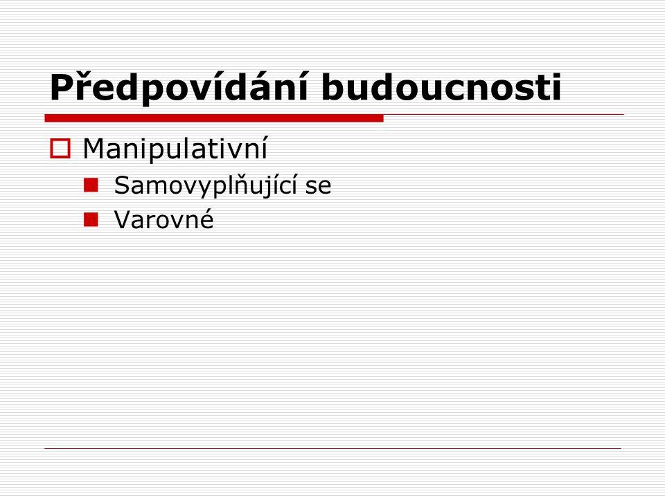  Manipulativní Samovyplňující se Varovné