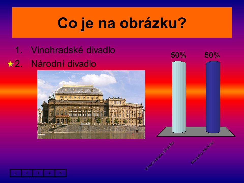 Co je na obrázku 1.Vinohradské divadlo 2.Národní divadlo 12345