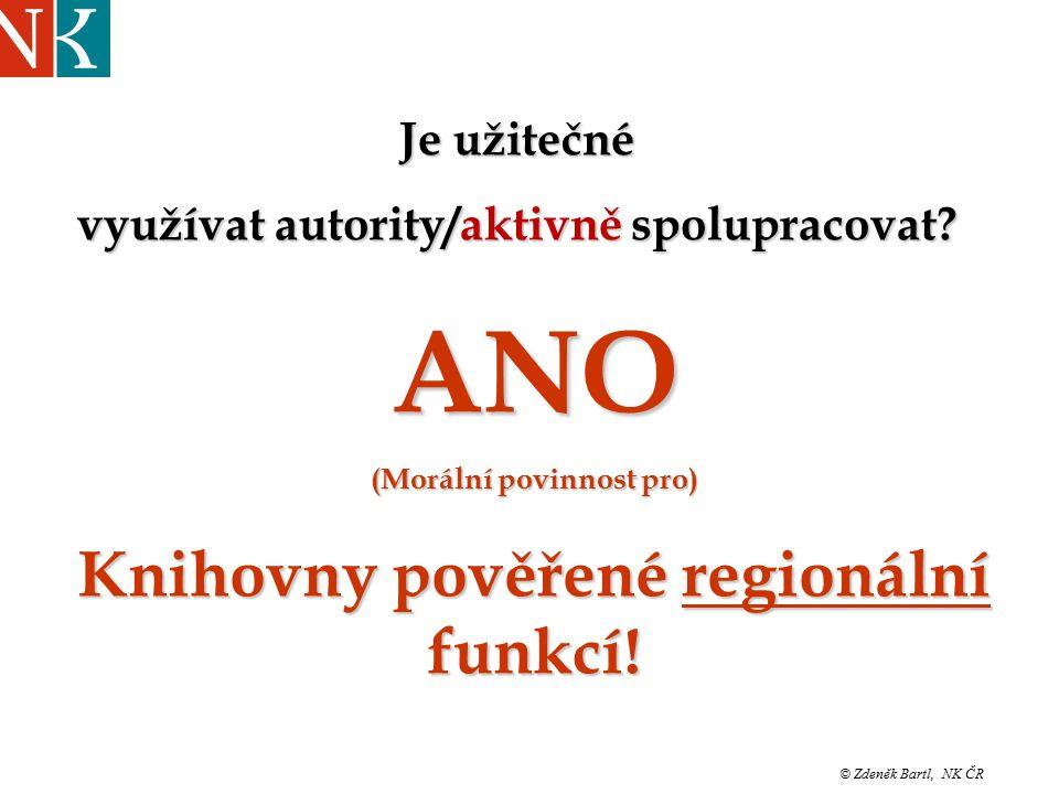 """© Zdeněk Bartl, NK ČR """"Jinonické pondělky UISK březen ´08 Je užitečné využívat autority/aktivně spolupracovat."""