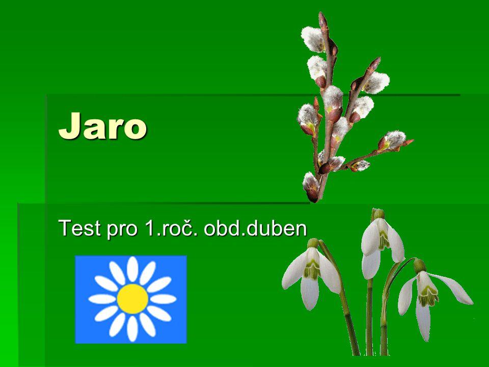 Jarní měsíce jsou: 1.Prosinec, leden, únor 2.Březen, duben, květen 3.Červen, červenec, srpen 12345