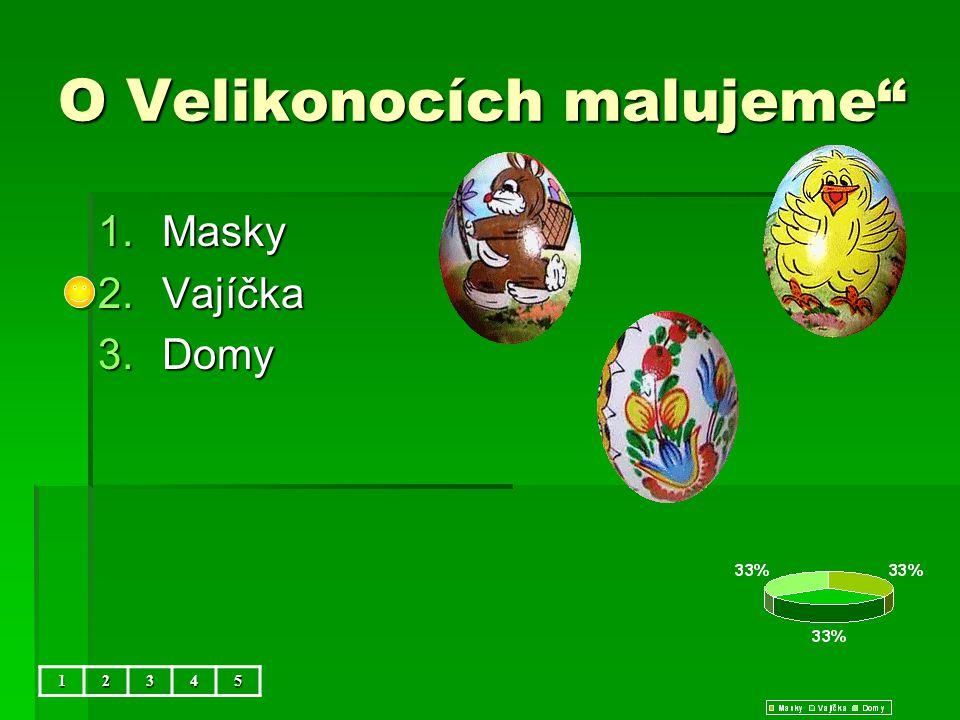 """O Velikonocích malujeme"""" 1.Masky 2.Vajíčka 3.Domy 12345"""