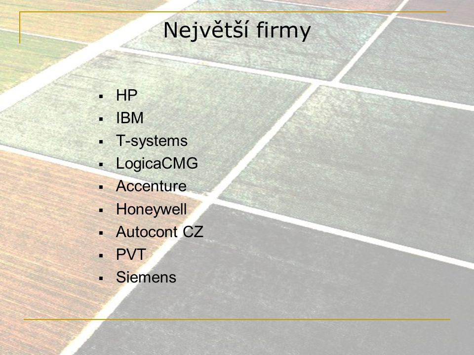 Hawlet Packard  dle IDC vítěz TOP 10 ICT roku 2007  obrat 2004 – 5,3 mld.