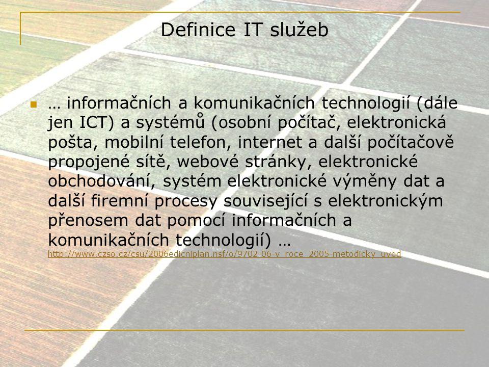 IT/ICT Závislost na nových technologiích Mohutný rozvoj sektoru během 80., ale především 90.