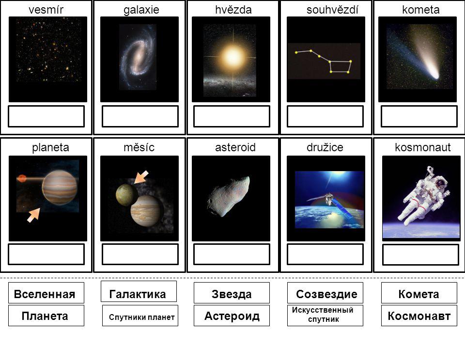 одевать vesmírgalaxiehvězdasouhvězdíkometa planetaměsícasteroiddružicekosmonaut Планета ВселеннаяГалактикаЗвездаСозвездиеКомета Спутники планет Астероид Искусственный спутник Космонавт