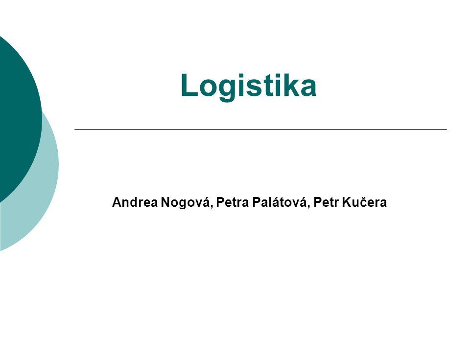 Logistika Andrea Nogová, Petra Palátová, Petr Kučera