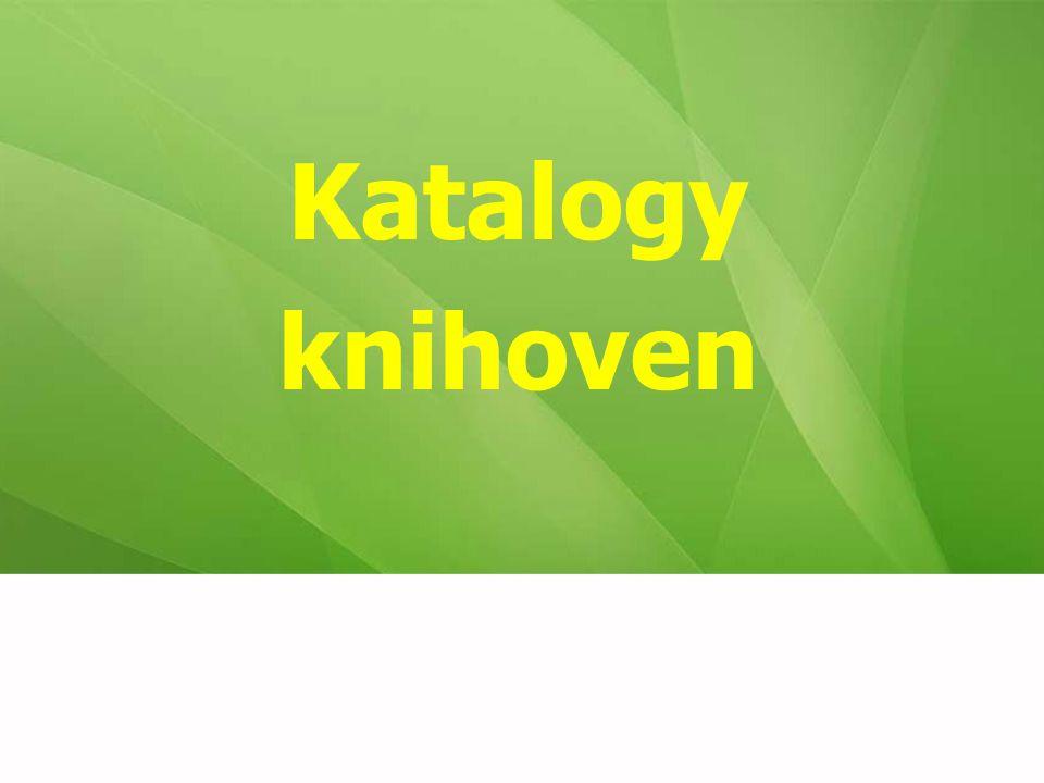 Katalogy knihoven