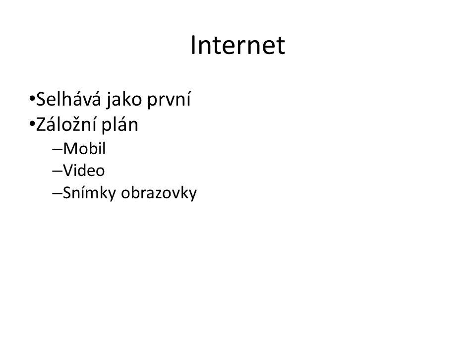 Internet Selhává jako první Záložní plán – Mobil – Video – Snímky obrazovky