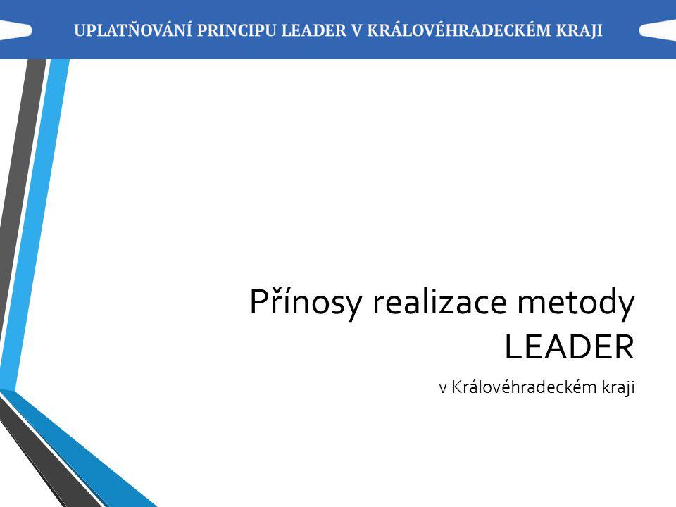 Přínosy realizace metody LEADER v Královéhradeckém kraji