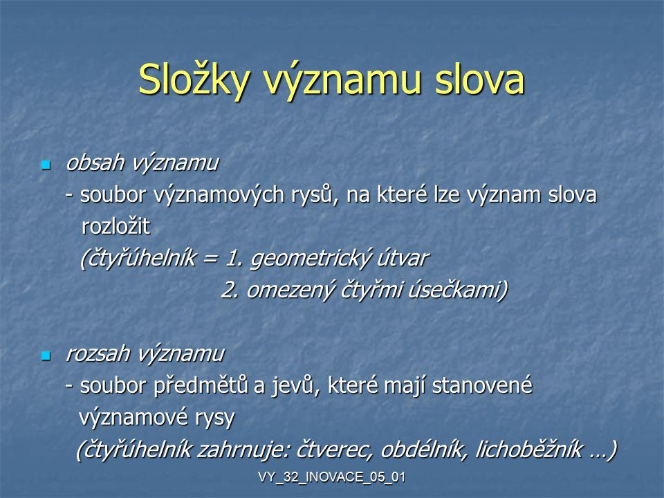 VY_32_INOVACE_05_01 Zdroje: Sochrová, M.Český jazyk v kostce.