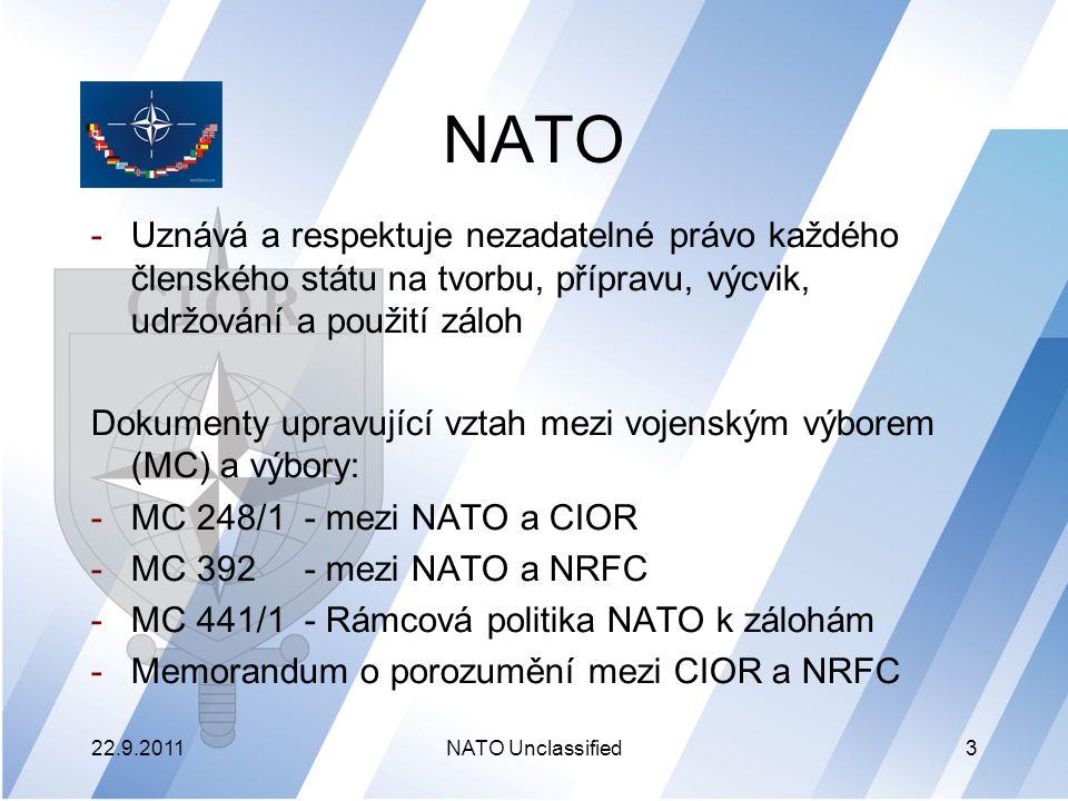 NATO – organizační struktura 22.9.2011NATO Unclassified4