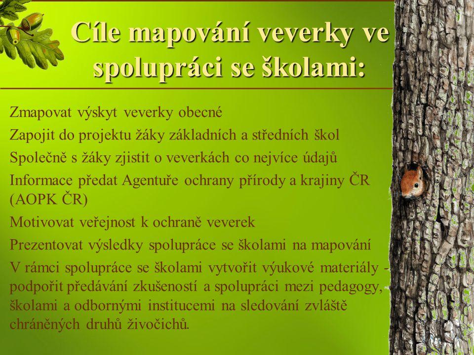Jak mapovat veverky V rubrice Veverka známá i neznámá klikněte na záložku Mapování