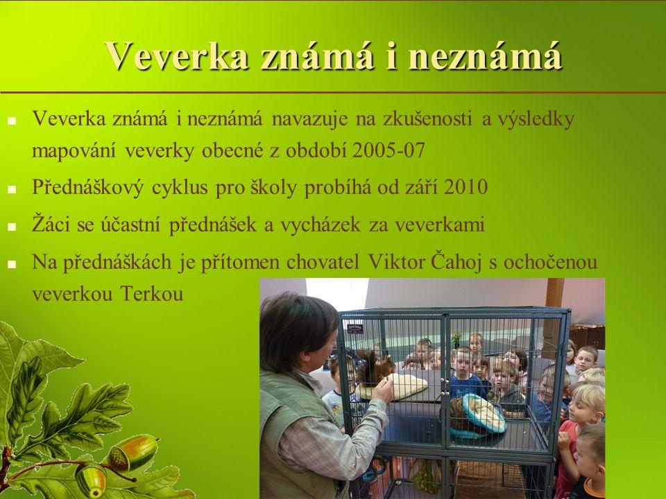 Veverka známá i neznámá školní rok 2010 / 2011   Ve školním roce 2010/2011 se ke dni 7.5.