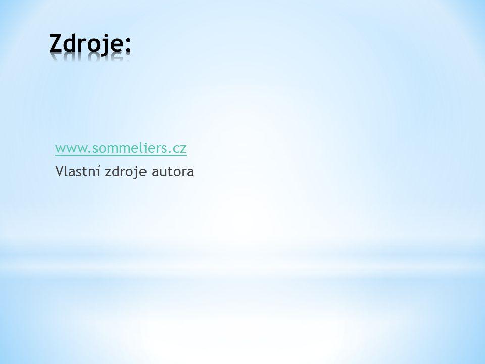 www.sommeliers.cz Vlastní zdroje autora