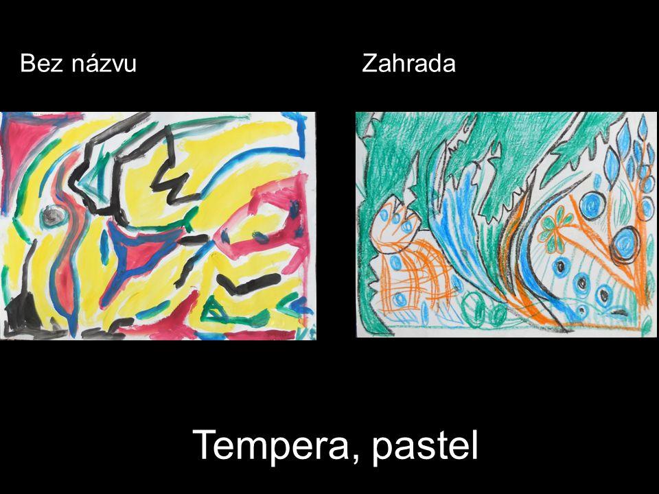 Tempera, pastel Bez názvuZahrada