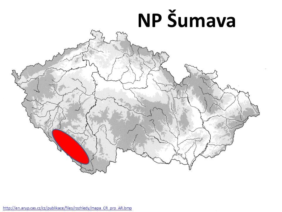 http://en.arup.cas.cz/cz/publikace/files/rozhledy/mapa_CR_pro_AR.bmp NP Šumava