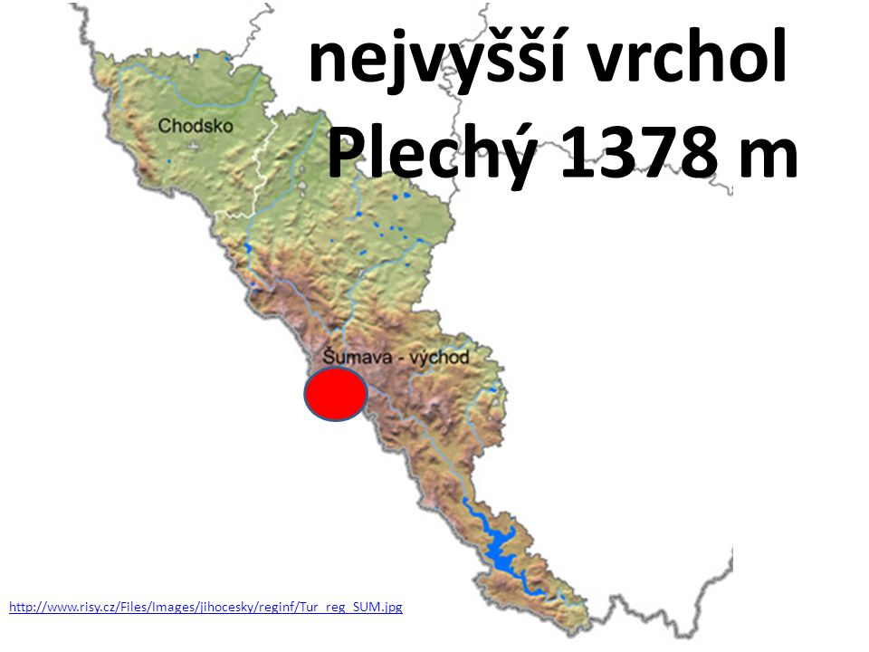 http://www.risy.cz/Files/Images/jihocesky/reginf/Tur_reg_SUM.jpg nejvyšší vrchol Plechý 1378 m