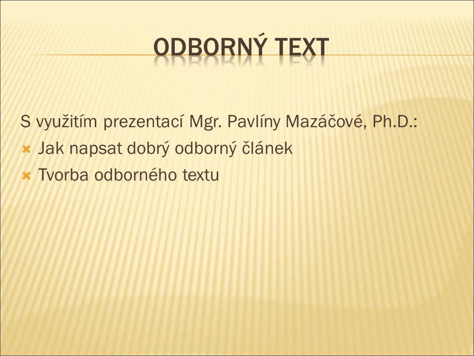 S využitím prezentací Mgr.