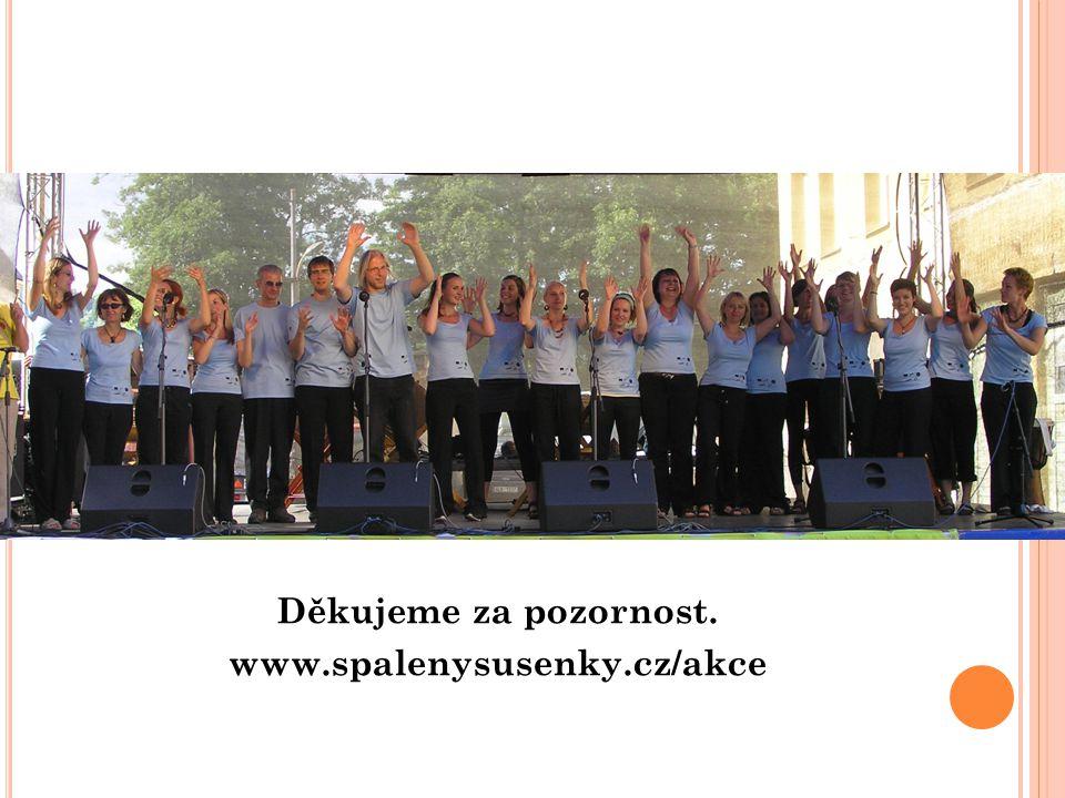 Děkujeme za pozornost. www.spalenysusenky.cz/akce
