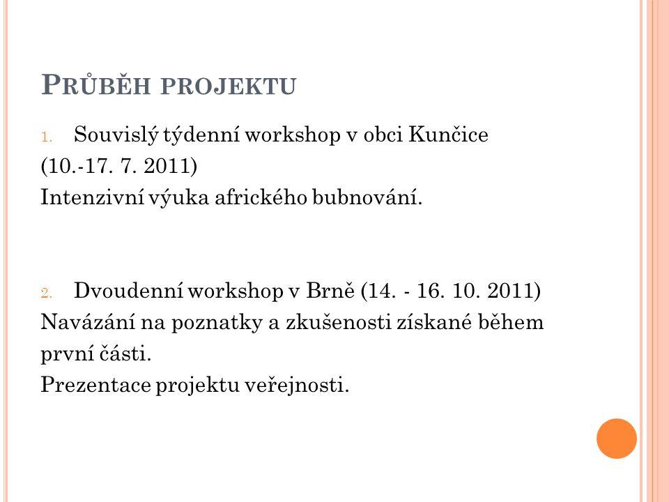 P RŮBĚH PROJEKTU 1. Souvislý týdenní workshop v obci Kunčice (10.-17.