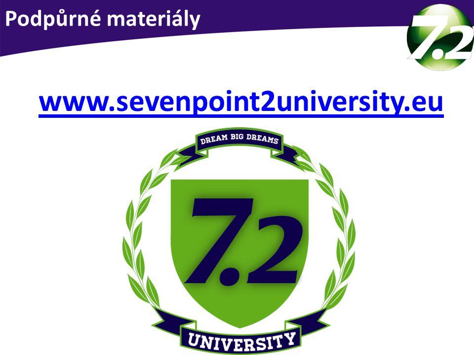 Podpora pro Vás www.sevenpoint2university.eu Podpůrné materiály