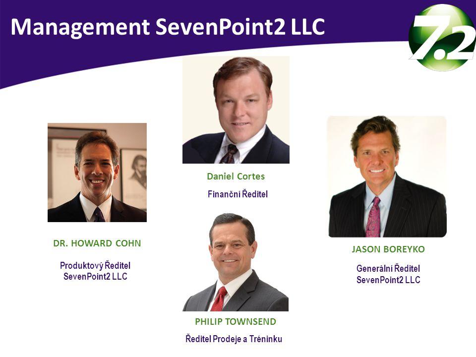 Vedení SevenPoint2 LLC USA DR. HOWARD COHN Produktový Ředitel SevenPoint2 LLC PHILIP TOWNSEND Ředitel Prodeje a Tréninku Management SevenPoint2 LLC JA