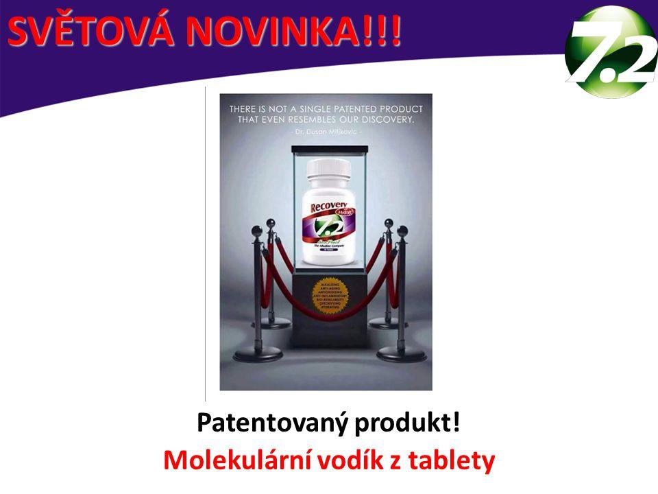 Patentovaný produkt! Molekulární vodík z tablety SVĚTOVÁ NOVINKA!!!