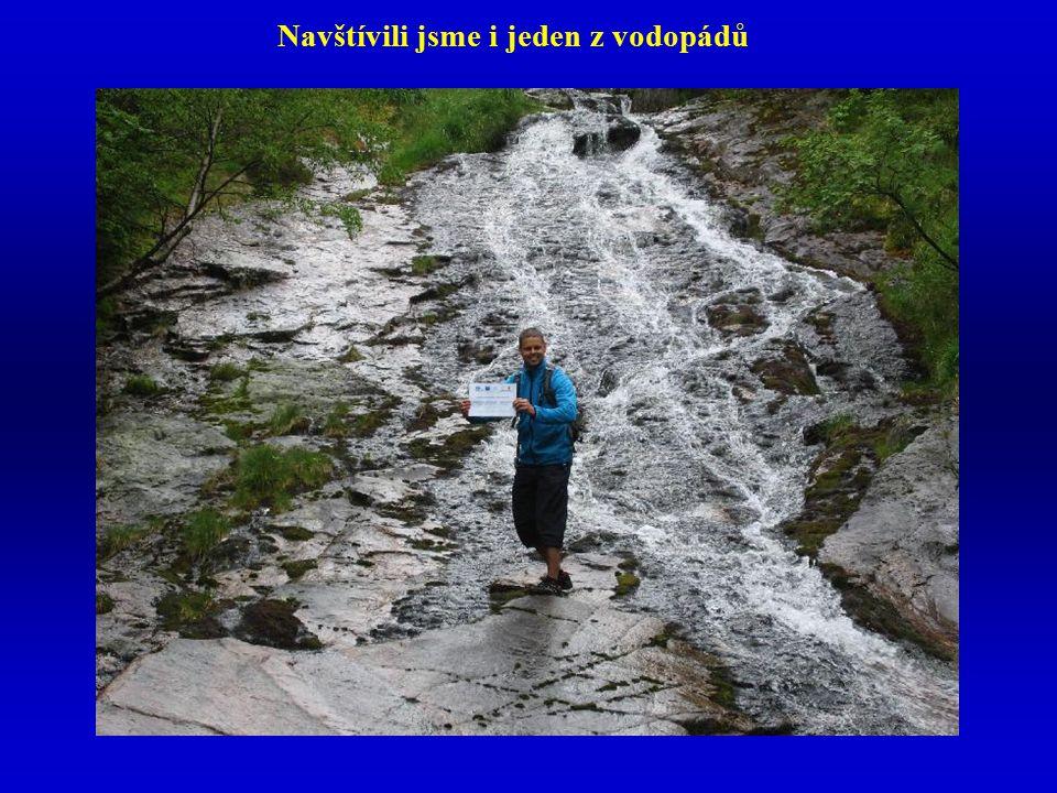 Navštívili jsme i jeden z vodopádů