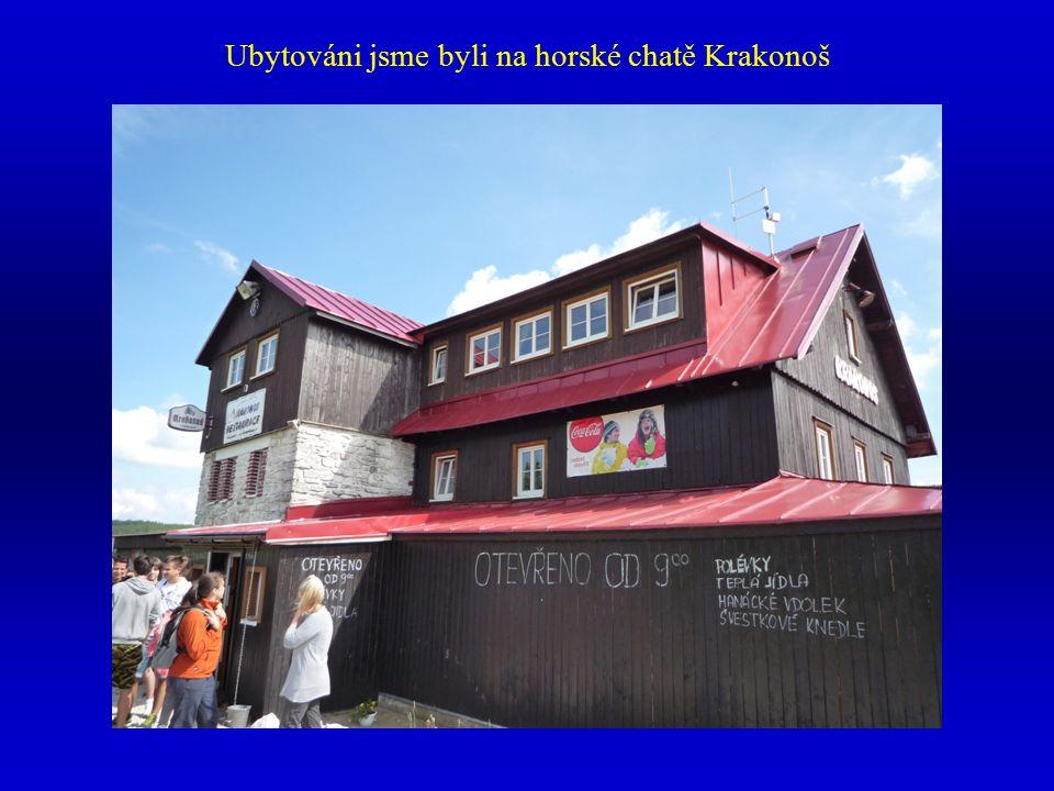 Ubytováni jsme byli na horské chatě Krakonoš