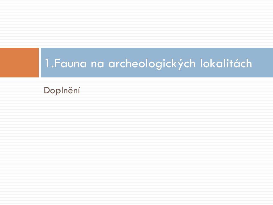 Doplnění 1.Fauna na archeologických lokalitách