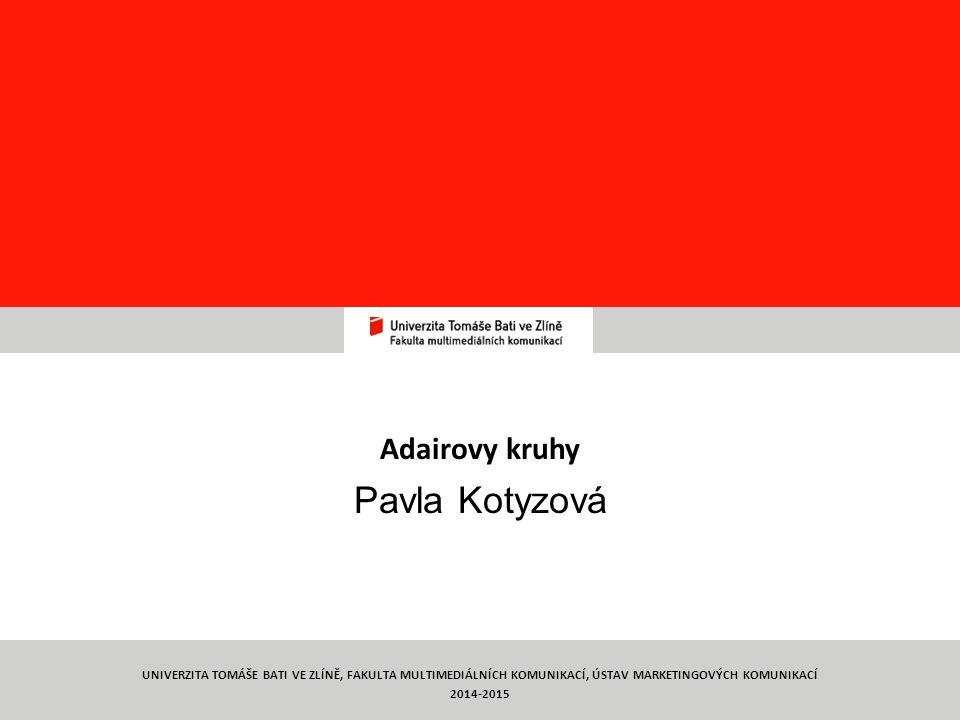 Týmová práce TYMP 1/ C5 Adairovy kruhy Pavla Kotyzová 8 UNIVERZITA TOMÁŠE BATI VE ZLÍNĚ, FAKULTA MULTIMEDIÁLNÍCH KOMUNIKACÍ, ÚSTAV MARKETINGOVÝCH KOMUNIKACÍ 2014-2015