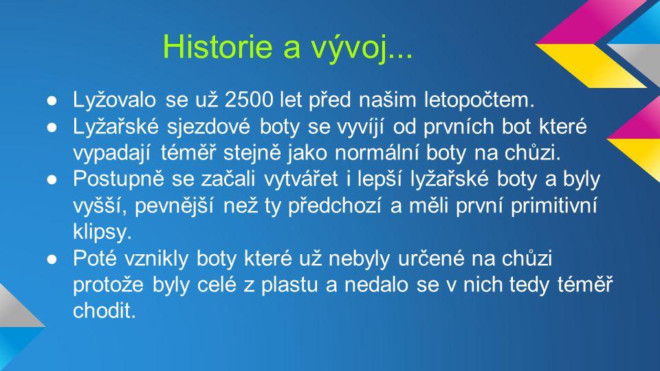 Historie a vývoj...●Lyžovalo se už 2500 let před našim letopočtem.